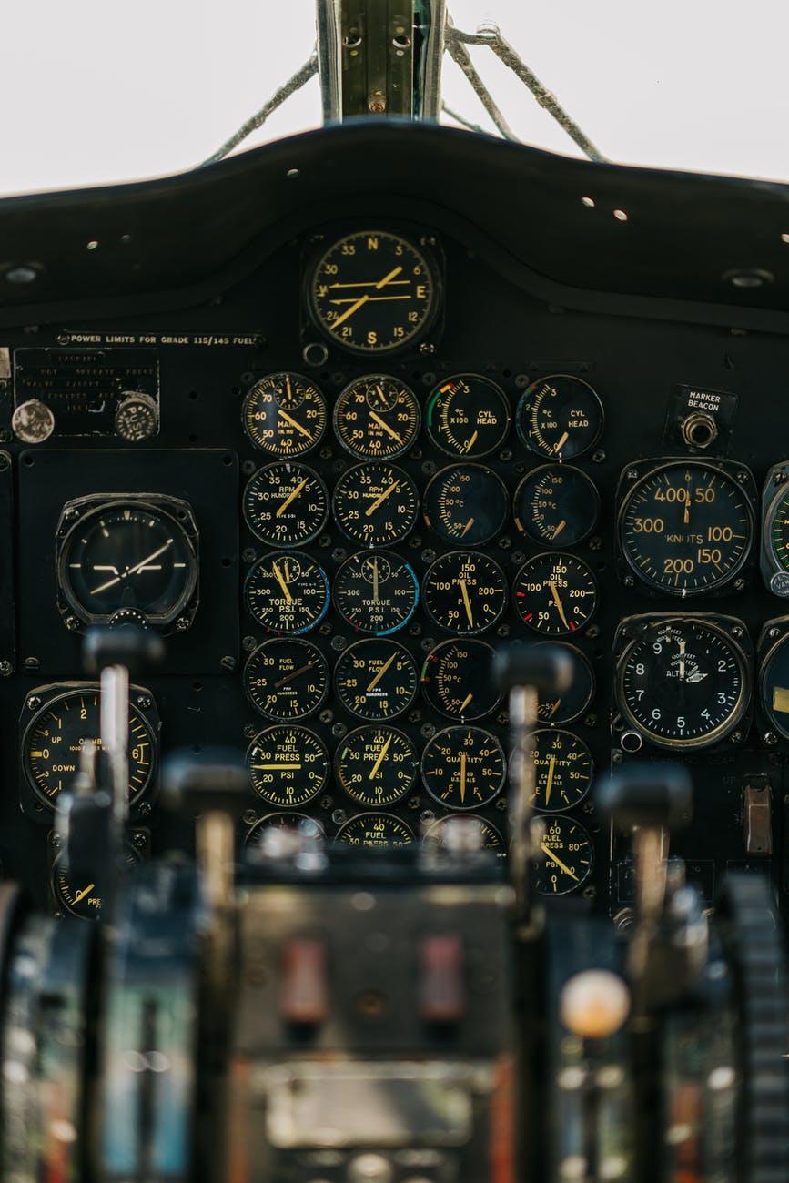 An aircraft cockpit